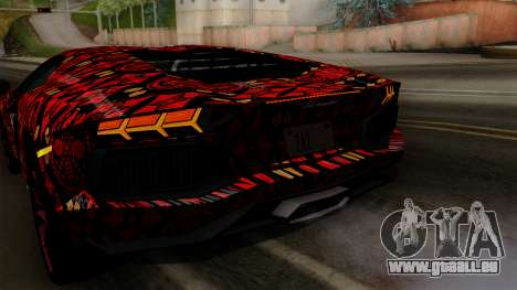 Lamborghini Aventador LP-700 Batik für GTA San Andreas Motor