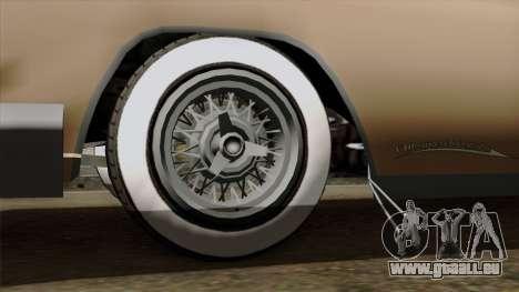 Vapid Peyote Bel-Air pour GTA San Andreas sur la vue arrière gauche