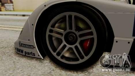 BMW V12 LMR 1999 Stock für GTA San Andreas zurück linke Ansicht