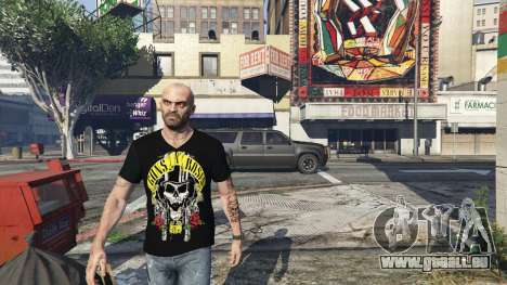 Trevor Guns and Roses Top Hat Shirt pour GTA 5