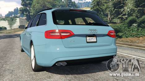 GTA 5 Audi A4 Avant 2013 arrière vue latérale gauche