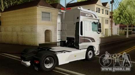 DAF XF Euro 6 SSC pour GTA San Andreas laissé vue