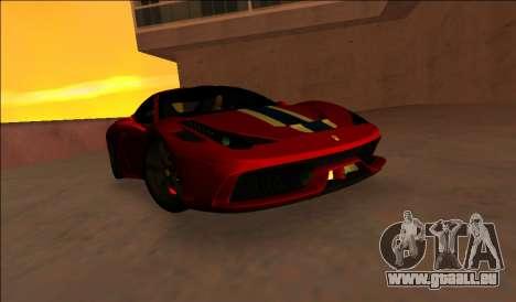 Ferrari 458 Besonderes für GTA Vice City linke Ansicht