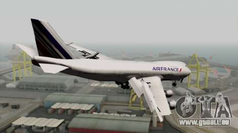 Boeing 747-200 Air France für GTA San Andreas linke Ansicht