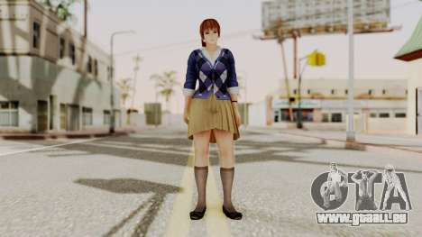 DOA 5 Kasumi Blue Sweater für GTA San Andreas zweiten Screenshot