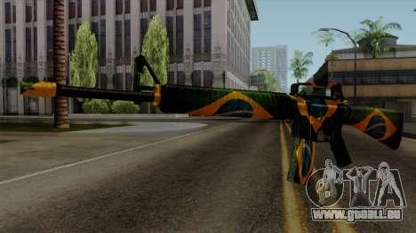 Brasileiro M4 v2 für GTA San Andreas zweiten Screenshot