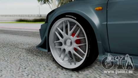 Mitsubishi Lancer Evolution Turbo pour GTA San Andreas vue de droite