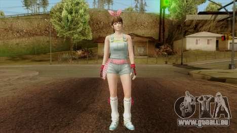Dead Or Alive 5 Hitomi Overalls für GTA San Andreas zweiten Screenshot