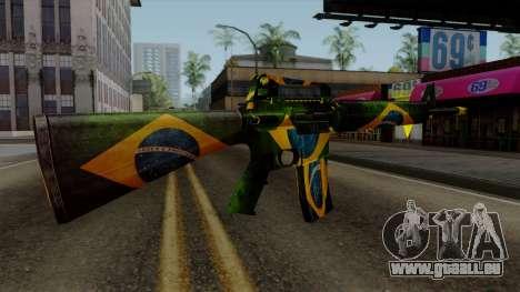 Brasileiro M4 v2 für GTA San Andreas dritten Screenshot