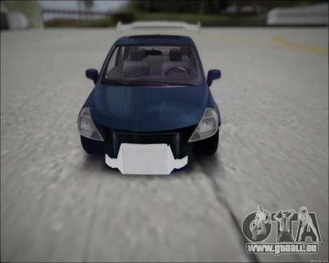 Nissan Tiida Drift Korch pour GTA San Andreas vue de droite
