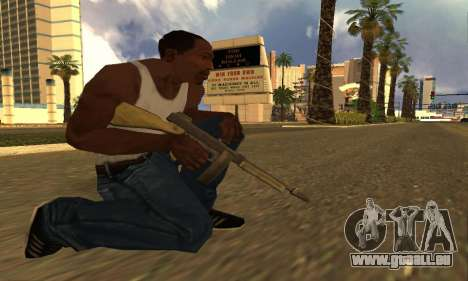GTA 5 Gusenberg Balayeuse pour GTA San Andreas troisième écran