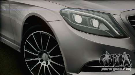 Mercedes-Benz S500 W222 pour GTA San Andreas vue de droite