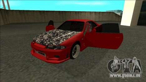 Nissan Skyline R33 Fairlady für GTA San Andreas Rückansicht