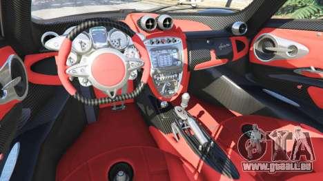 GTA 5 Pagani Huayra volant