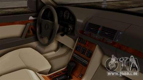 Mercedes-Benz W140 400SE 1992 für GTA San Andreas rechten Ansicht