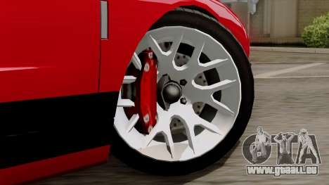 Vapid Bullet GT-GT3 pour GTA San Andreas sur la vue arrière gauche