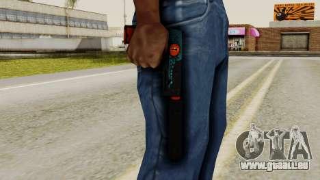 USP-S Caiman pour GTA San Andreas troisième écran
