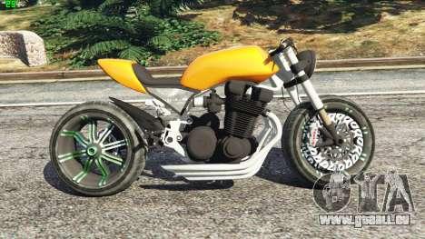 GTA 5 Honda CB 1800 Cafe Racer Paint vue latérale gauche