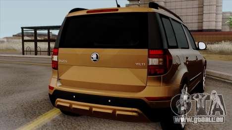 Skoda Yeti 2014 pour GTA San Andreas vue de droite