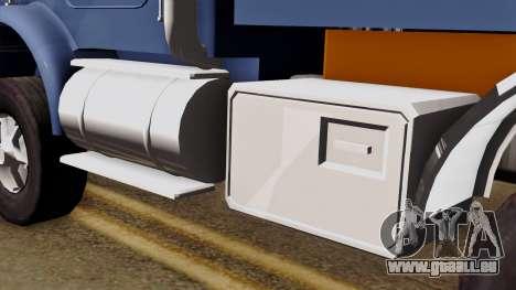 Kenworth T800 pour GTA San Andreas vue de droite