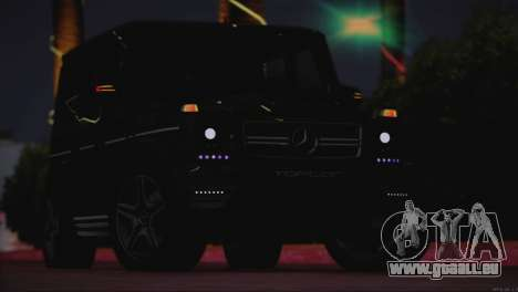 Mercedes Benz G65 AMG 2015 Topcar Tuning pour GTA San Andreas vue intérieure