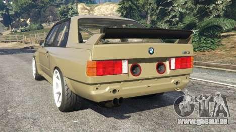 GTA 5 BMW M3 (E30) 1991 Drift Edition v1.0 arrière vue latérale gauche