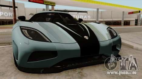 Koenigsegg Agera R 2014 für GTA San Andreas Innenansicht