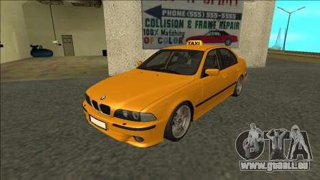 1999 BMW 530d E39 Taxi pour GTA San Andreas