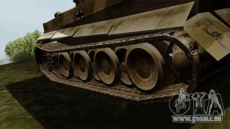 Panzerkampfwagen VI Ausf. E Tiger pour GTA San Andreas sur la vue arrière gauche