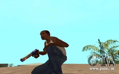 Desert Eagle avec un bébé tigre pour GTA San Andreas troisième écran