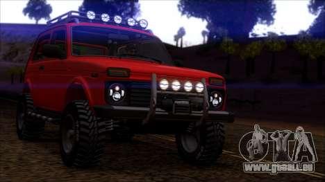VAZ Niva 2121 Offroad pour GTA San Andreas laissé vue