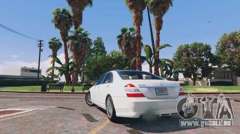 GTA 5 Mercedes-Benz S-Class W221 v0.5.3 arrière vue latérale gauche