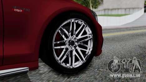 Brabus 850 pour GTA San Andreas sur la vue arrière gauche