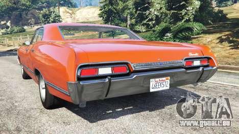 GTA 5 Chevrolet Impala 1967 arrière vue latérale gauche