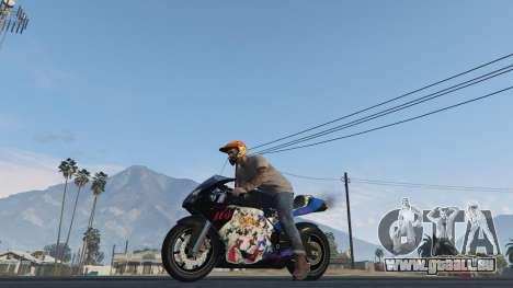 GTA 5 Pegassi Bati 801RR Anime Texture Pack vue arrière