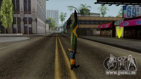 Brasileiro Knife v2 pour GTA San Andreas deuxième écran