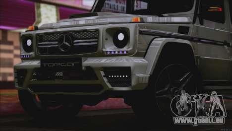 Mercedes Benz G65 AMG 2015 Topcar Tuning pour GTA San Andreas vue de dessus