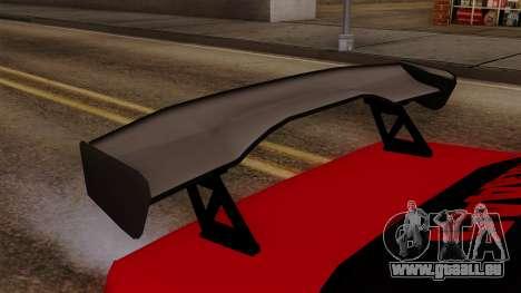 Peugeot 405 Full Sport pour GTA San Andreas vue arrière
