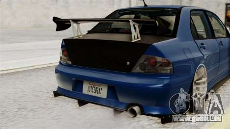 Mitsubishi Lancer Evolution v2 pour GTA San Andreas vue intérieure