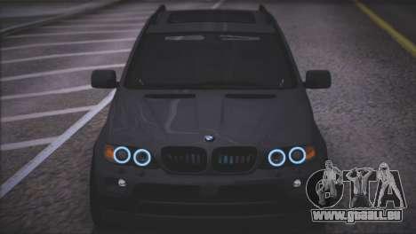 BMW X5 E53 pour GTA San Andreas vue de dessus