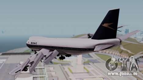 Boeing 747-100 British Overseas Airways für GTA San Andreas linke Ansicht