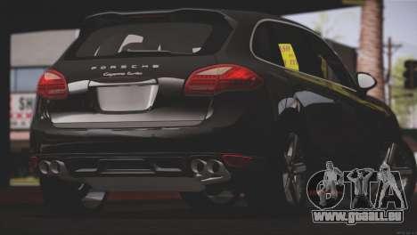Porsche Cayenne Turbo 2012 für GTA San Andreas Unteransicht