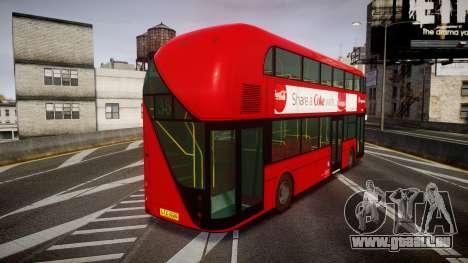 Wrightbus New Routemaster Stagecoach pour GTA 4 Vue arrière de la gauche