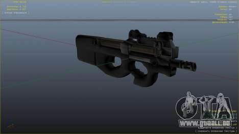 P-90 из Battlefield 4 pour GTA 5