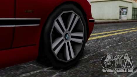 BMW M5 E39 SA Style pour GTA San Andreas sur la vue arrière gauche