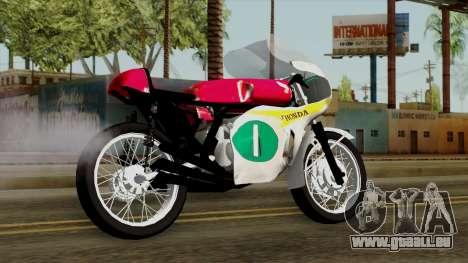 Honda RC166 v2.0 World GP 250 CC für GTA San Andreas linke Ansicht