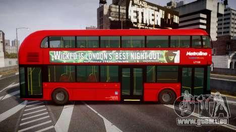 Wrightbus New Routemaster Metroline für GTA 4 linke Ansicht