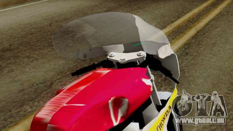 Honda RC166 v2.0 World GP 250 CC für GTA San Andreas Rückansicht