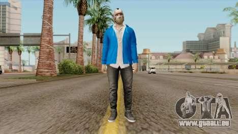 H2O Delirious Skin für GTA San Andreas zweiten Screenshot
