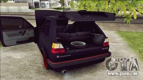 Volkswagen Golf Mk2 Line für GTA San Andreas Rückansicht